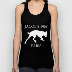 White Dog Jacob's 1968 fashion Paris Unisex Tank Top