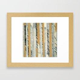 mosmith word collage Framed Art Print