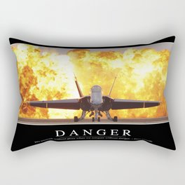 Danger: Inspirational Quote and Motivational Poster Rectangular Pillow