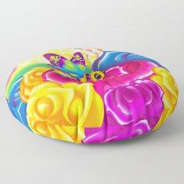 1997 Neon Rainbow Beelzebub Floor Pillow