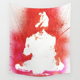 Buddha in White Wall Tapestry