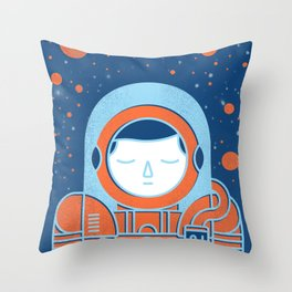 Orange Space Throw Pillow