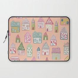 tiny village print - watercolor Laptop Sleeve