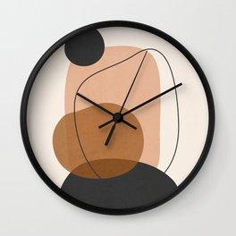 Minimal Abstract Art 12 Wall Clock
