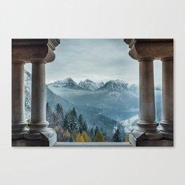 The view - Neuschwanstin casle Canvas Print
