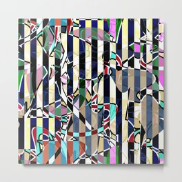 Creative stripes #stripes #abstract Metal Print