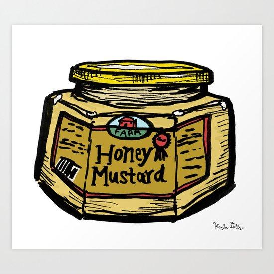 Honey Mustard Art Print