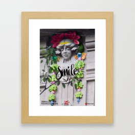 Smile - Cara Dura Proyect Framed Art Print