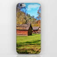 allyson johnson iPhone & iPod Skins featuring Johnson City Tennessee Cabins by Mary Timman
