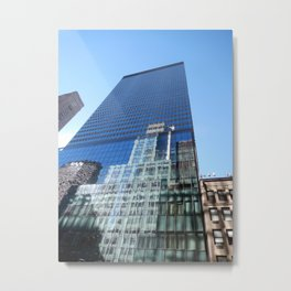 Looking up on 42nd Street Metal Print