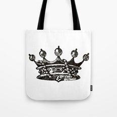 Royal Crown | Black and White Tote Bag