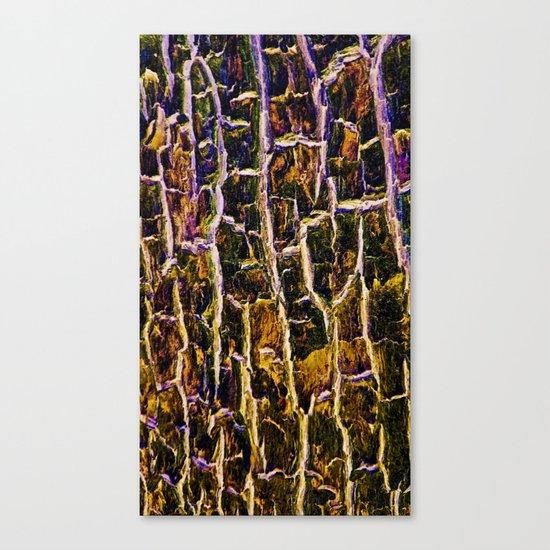 Jewel Toned Topaz Tree Bark Canvas Print