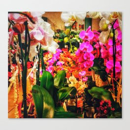 Orchids in the Market Canvas Print