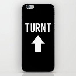 Turnt Up Arrow Black Print iPhone Skin