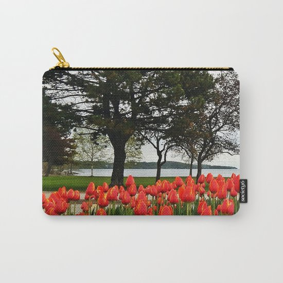Tulips and the Trees by the Lake Carry-All Pouch