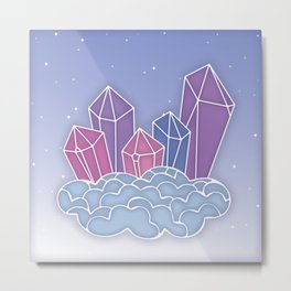 Gemstone castle in the sky Metal Print
