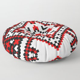 Traditional Romanian folk art knitted embroidery pattern Floor Pillow