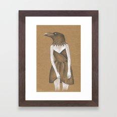 ANIMAL INSTINCTS -BIRD GIRL Framed Art Print