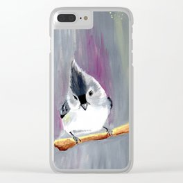 Sienna the tufted titmouse Clear iPhone Case