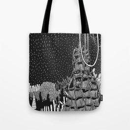 Botanical Doodle 2/3 Tote Bag