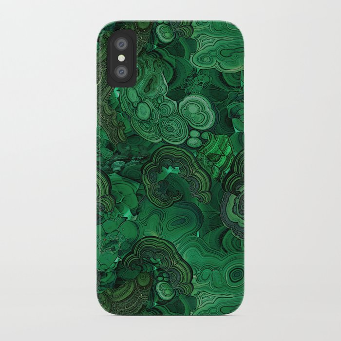 malachite iphone case by ravynka society6
