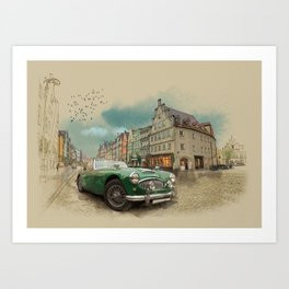 Germany on a rainy day Art Print