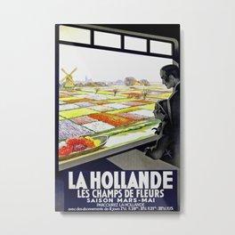 La Hollande Vintage Travel Poster Metal Print