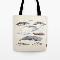 whales Tote Bags featuring Whales by BySamantha | Samantha Ranlet