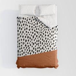 Dalmatian Spots with Burnt Orange Stripe Comforters