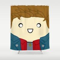 dean winchester Shower Curtains featuring Dean by discojellyfish