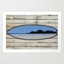 Long Beach Tofino on Surf and Wood | DopeyArt Art Print