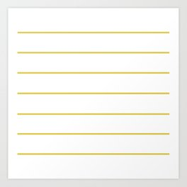 THIN MUSTARD STRIPE Art Print