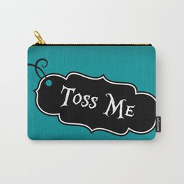 """""""Toss Me"""" Alice in Wonderland styled Bottle Tag Design in 'Alice Blue' Carry-All Pouch"""