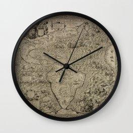 The americas by Diego Gutierrez, 1562 Wall Clock