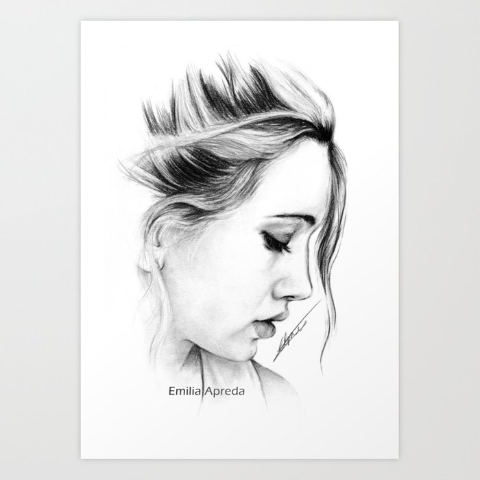 Bea miller pencil sketch art print