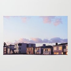 Midcentury Style Homes along the Beach, Sunset Beach, California Rug