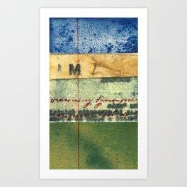 M Stripe Art Print