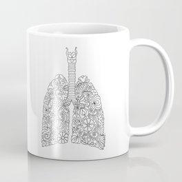 Lungs anatomy with folk motives Coffee Mug
