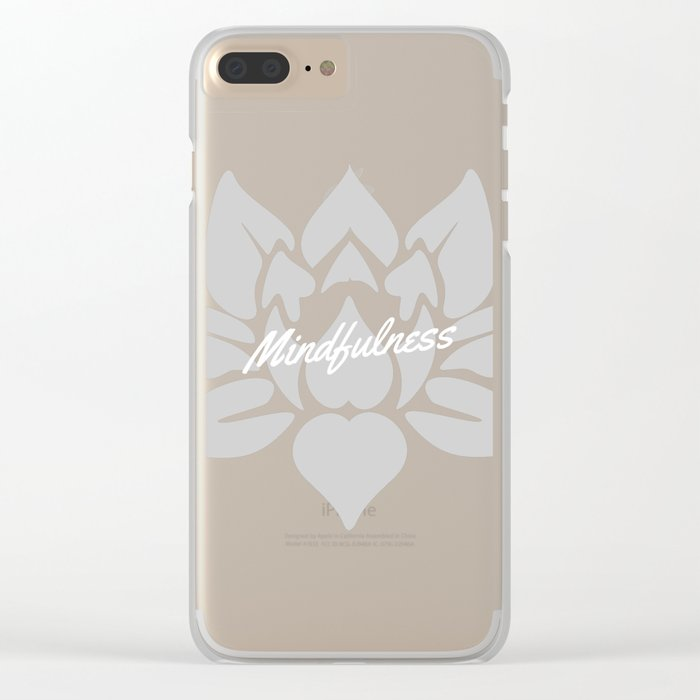 Mindfulness Lotus Clear iPhone Case
