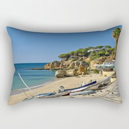 Olhos d'Agua beach in winter, Portugal Rectangular Pillow