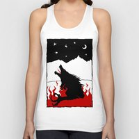 werewolf Tank Tops featuring Werewolf by FROM THE ABYSS TO THE STARS