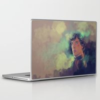 sherlock holmes Laptop & iPad Skins featuring Sherlock Holmes by KanaHyde