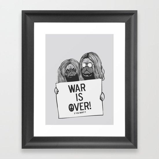 War is over Pugs Framed Art Print