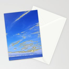 Mediterranean sky with mountains Stationery Cards