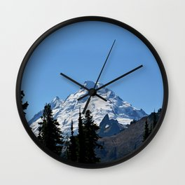 Snow Cap on the Mountain Wall Clock