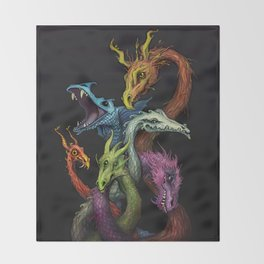 Serpents Throw Blanket