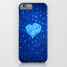 Winter Blue Crystallized Abstract Heart Slim Case iPhone 6s