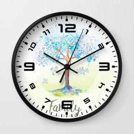 Family blue Wall Clock