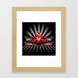 Formula 1 Red Race Car Framed Art Print