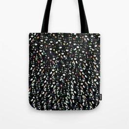 Digital Glitter: Black with Iridescent Sparkles Tote Bag